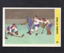 1958 Parkhurst #35 Jacques Plante/Canadiens On Guard, Vintage NHL Hockey 1958-59