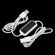 480Mb/s USB 2.0 Laptop PC To PC Online Data Link File Transfer Cable Bridge#H