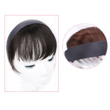 Neat Bangs Hairband Front Human Hair Bangs Hair Extension False Braid Hairpiece