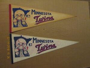 MLB Minnesota Twins Vintage 1960's & Circa 1969 Logo Baseball Pennants