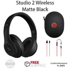 Original Beats Studio 2.0 Wireless MATTE BLACK Bluetooth Over Ear Headphones