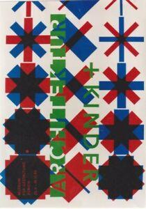 Original vintage poster ARCHITECTURE & CHILDREN EXPO 1995
