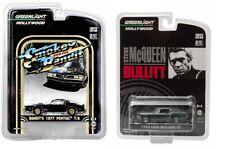 GREENLIGHT BULLITT 1968 FORD MUSTANG GT FASTBACK & 1977 PONTIAC Trans Am Set