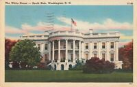 Postcard White House South Side Washington DC