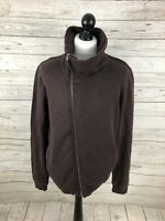 ALSAINTS Full Zip Sweatshirt - Size Large - Burgundy - Great Condition - Mens