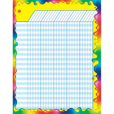 Rainbow Gel Design Large Durable Incentive Wall Reward Chart