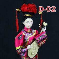 D-02 China Qing-Dynastie Geisha chinesisch Puppe Figur Seide 31cm  groß