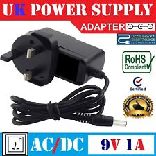 To Fit SEGA Game Gear Handheld Power Adapter Charger Mains Plug 9V AC DC UK
