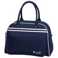 Personalised Retro Vintage Luggage,Flight Bag,Bowling Bag Style Gym,Sports