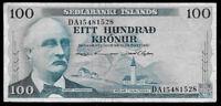 World Paper Money - Iceland 100 Kronur 1961 P44 @ VF