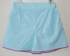 BN ~  Bella Bliss Aqua Gingham Lanie Shorts W/Hot Pink Ric-Rac Girl's Sz 2
