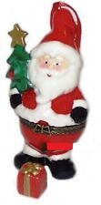 Santa with Tree-Porcelain Hinged-Box-Wonderful Hanging Ornament for Your Tree