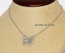 Van Cleef & Arpels Butterfly Pendant 18k White Gold & Diamonds VCARA63600