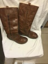Ugg Real Leather Brown Boots Size 6.5