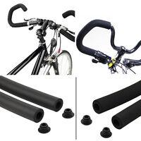 2X Bicycle Cycle MTB Bike Smooth Tube Sponge Foam Rubber Handlebar Grips Cover F