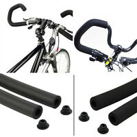 2pcs Bicycle MTB Bike Smooth Tube Sponge Foam Rubber Handlebar Grips Cover fo