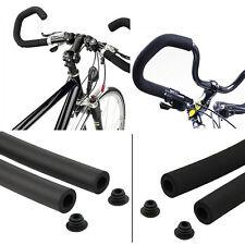 Fine 2pcs Bicycle MTB Bike Smooth Tube Sponge Foam Rubber Handlebar Grips XC
