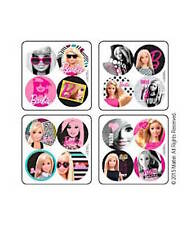 48 Barbie Girl Doll Dot  Stickers Party Favors Teacher Supply Reward Charts