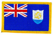 FLAG PATCH PATCHES ANGUILLA  IRON ON COUNTRY EMBROIDERED WORLD FLAG