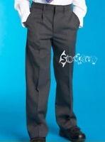 Boys M&S Pleat Front Grey School Trousers Ages 3-16 Super Crease,Storm wear