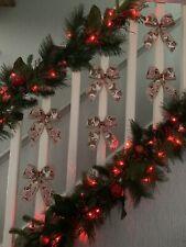 1 x Luxury Quality Christmas Doggie Bow Tree Decorations Garland Stairs 16x19Cm