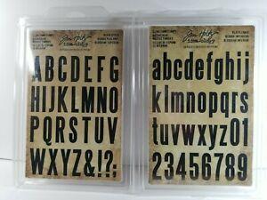 Tim Holtz Idea-ology Cling Foam Stamp Block Upper & Lower Alphabet Letter Number