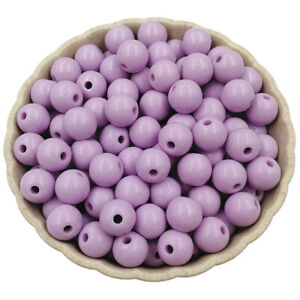 50pcs 10MM Acrylic Loose DIY Beads For Jewelry Findings Jewelry making Bracelet