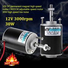 12 volt 30W CW/CCW Electric DC Permanent Magnet Motor Generator 3000rpm