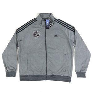 Chicago Blackhawks NHL Adidas Mens XL Gray Black Full Zip Track Jacket