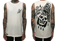 Hourless Sleeveless Tee (T-Shirt) Mens S M L XL XXL WHITE Afends RVCA Tattoo