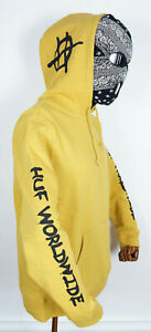 Huf Worldwide Sweatshirt Hooded Pullover Hoodie Riot Sauterne in L