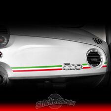 Adesivo FIAT 500 TRICOLORE Italia sticker plancia cruscotto