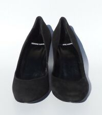 918f6c27596 PIERRE HARDY Black Suede Round Toe Patent Leather Covered Wedge Heels Pumps  37