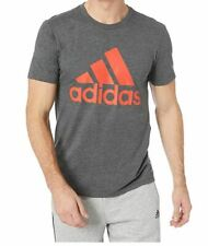 Adidas Men's ClimaLite Athletics Badge of Sport Tee Grey Size M New with tag
