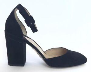 Paul Andrew Women Shoes Size 40 Black Suede Sandals Heels