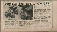 1949 Print Ad Fix Brand Fishing Reels Automatic & Manual Swiss Made