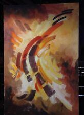 "Vintage Jane Abeshouse Feiler Oil Painting Signed jf Canvas Measures 36"" X 24"""