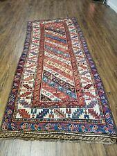 "3' 5"" X 8' 4"" Antique Handmade Caucasian Wool Rug Runner Talesh Tribal Organic"