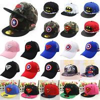 Kinder Mädchen Jungen Basecap Baseball Kappe Sommer Sport Snapback Hute Mütze