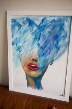 "Suffocating Woman original acrylic Painting titled ""lost within"""