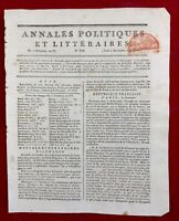 Armée d'Italie 1797 Berthier Bonaparte Montellesimo Royaliste à Paris Rastadt