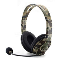 Gaming Headset Wired Headphones Stereo For Sony PS4 Camouflage Volume Control