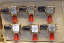 ALCATEL 6.425 - 7.250 GHz FERROCOM ISOLATOR 51A27-04 PN 355-0506-890 6 pc
