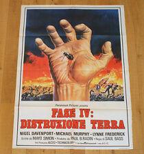 FASE IV DISTRUZIONE TERRA poster manifesto Phase Sci Fi Formiche Formicaio Ants