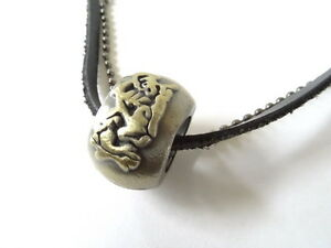 NEW Leather Men's Metal Ring Pendant Surfer Necklace Choker