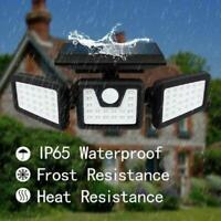 74 LED PIR Motion Sensor Wall Light Solar Power Waterproof Outdoor Garden Lamp