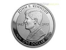 1 Dollar John F. Kennedy British Virgin Islands 1 oz Silber 2017 Reverse Proof