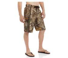 Mens Realtree Camo Cargo Swim Board Shorts Size Small 28-30 Camouflage Trunks