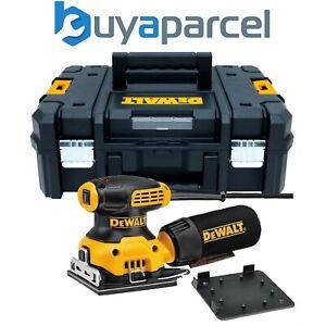 """Dewalt DWE6411 1/4"""" Sheet Palm Sander 240v + Cloth Dust Bag + Tstak Case + Inlay"""