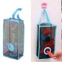 2X Grocery Bag Holder Wall Mount Storage Dispenser Plastic Kitchen Organizer Bag